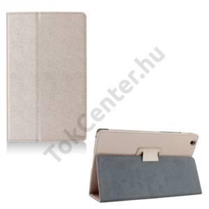 Lenovo Tab 2 (A8-50) Tok álló, bőr (FLIP, oldalra nyíló, asztali tartó funkció) ARANY