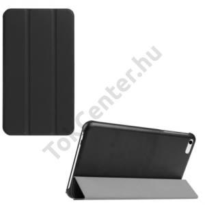 Huawei Mediapad T1 7 Tok álló, bőr (FLIP, TRIFOLD asztali tartó funkció) FEKETE