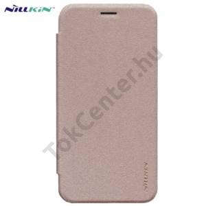 Asus Zenfone 2 (ZE500CL) NILLKIN SPARKLE műanyag telefonvédő (mikroszálas bőr flip, oldalra nyíló) ARANY