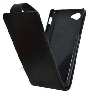 Sony Xperia J (ST26i) Tok álló, bőr (FLIP, mágneses) FEKETE