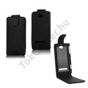 HTC 8S Windows Phone (A620e) Tok álló, bőr (FLIP, mágneses) FEKETE