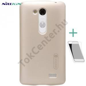 LG L70+ L Fino (D290n) NILLKIN SUPER FROSTED műanyag telefonvédő (gumírozott, érdes felület, képernyővédő fólia, tisztítókendő) ARANY