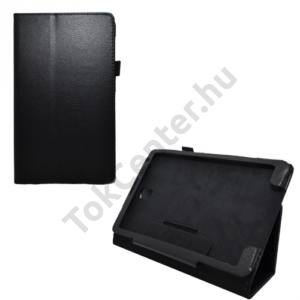 Samsung Galaxy Tab S 8.4 LTE (SM-T705) Tok álló, bőr (FLIP, mágneses, asztali tartó funkció) FEKETE
