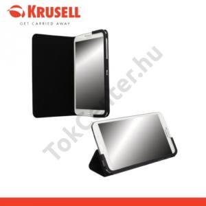 Samsung Galaxy Tab4 8.0 LTE (SM-T335) KRUSELL MALMÖ bőr tok (FLIP, asztali tartó funkció) FEKETE