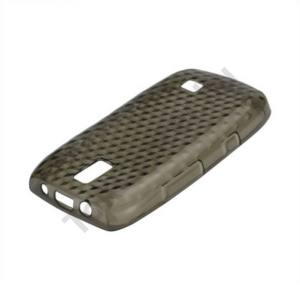 Nokia 308 Asha Telefonvédő gumi / szilikon (gyémántmintás) FÜSTSZÍNŰ