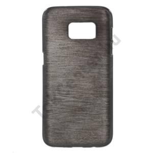 Samsung Galaxy S7 (SM-G930) Telefonvédő gumi / szilikon (szálcsiszolt mintázat) FEKETE