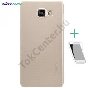 Samsung Galaxy A5 (2016) (SM-A510F) NILLKIN SUPER FROSTED műanyag telefonvédő (gumírozott, érdes felület, képernyővédő fólia, tisztítókendő) ARANY