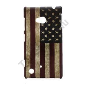 Nokia Lumia 720 Műanyag telefonvédő (zászlóminta) USA
