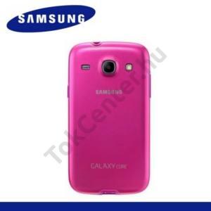 Samsung Galaxy Core (GT-I8260) Műanyag telefonvédő (gumi / szilikon betét) RÓZSASZÍN