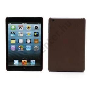 Apple IPAD mini Műanyag telefonvédő (bőrhatás) BARNA