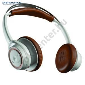 BLUETOOTH fejhallgató PLANTORNICS BackBeat SENSE (mikrofon, audió kezelő gombok, 3.5 jack kábel, USB töltő) FEHÉR/BARNA