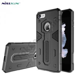 Apple iPhone 7 /APPLE IPhone 8 4,7`` NILLKIN DEFENDER II. telefonvédő gumi / szilikon (műanyag belső, közepesen ütésálló) FEKETE