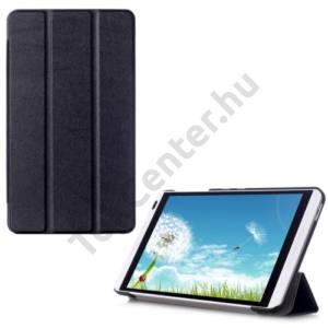 Huawei Mediapad M1 8 (S8-301W) Tok álló, bőr (FLIP, oldalra nyíló, TRIFOLD asztali tartó funkció) FEKETE
