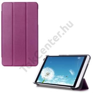 Huawei Mediapad M1 8 (S8-301W) Tok álló, bőr (FLIP, oldalra nyíló, TRIFOLD asztali tartó funkció) LILA