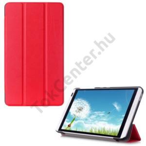 Huawei Mediapad M1 8 (S8-301W) Tok álló, bőr (FLIP, oldalra nyíló, TRIFOLD asztali tartó funkció) PIROS