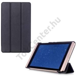 Huawei Mediapad M2 8  Tok álló, bőr (FLIP, oldalra nyíló, TRIFOLD asztali tartó funkció) FEKETE