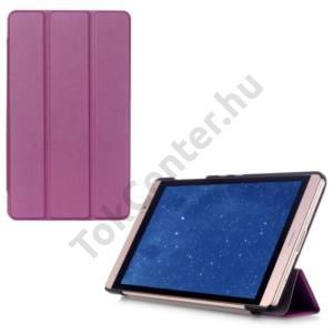 Huawei Mediapad M2 8  Tok álló, bőr (FLIP, oldalra nyíló, TRIFOLD asztali tartó funkció) LILA
