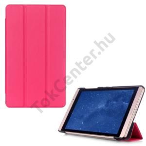 Huawei Mediapad M2 8  Tok álló, bőr (FLIP, oldalra nyíló, TRIFOLD asztali tartó funkció) MAGENTA