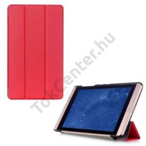 Huawei Mediapad M2 8  Tok álló, bőr (FLIP, oldalra nyíló, TRIFOLD asztali tartó funkció) PIROS