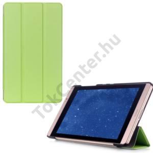 Huawei Mediapad M2 8  Tok álló, bőr (FLIP, oldalra nyíló, TRIFOLD asztali tartó funkció) ZÖLD