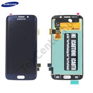 Samsung Galaxy S6 EDGE (SM-G925F) LCD kijelző komplett panel (kerettel, érintőpanellel) FEKETE