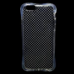 Apple iPhone 6 4.7`` / 6S 4.7`` Telefonvédő gumi / szilikon (légpárnás sarok, pont minta) ÁTLÁTSZÓ