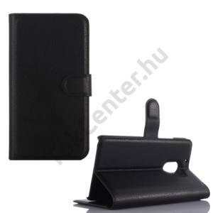 Lenovo A7010 Tok álló, bőr (FLIP, oldalra nyíló, asztali tartó funkció) FEKETE