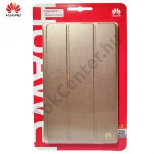Huawei Mediapad M2 8  Tok álló, bőr (FLIP, oldalra nyíló, asztali tartó funkció) ARANY