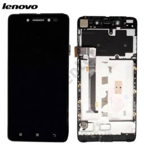 Lenovo S90 Sisley LCD kijelző komplett panel (kerettel, érintőpanellel) FEKETE