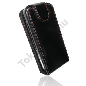 Nokia 5228 Tok álló, bőr (FLIP, mágneses) FEKETE