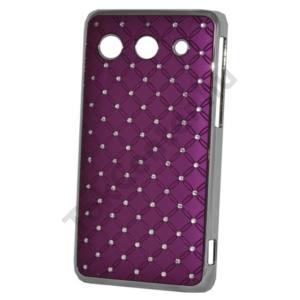 Huawei Ascend G510 (U8951) Műanyag telefonvédő (strasszkő) LILA