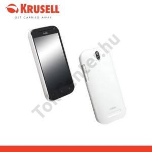HTC One ST (T528T) KRUSELL ColorCover műanyag telefonvédő METÁLFEHÉR