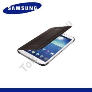 Samsung Galaxy Tab3 8.0 (SM-T310) Műanyag telefonvédő (FLIP, oldalra nyíló, asztali tartó funkció) ARANYBARNA