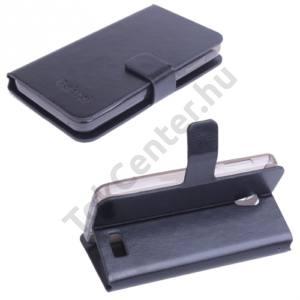 Lenovo A319 Tok álló, bőr (FLIP, mágneses, oldalra nyíló, asztali tartó funkció) FEKETE