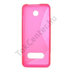 Nokia 301 Telefonvédő gumi / szilikon (S-line) MAGENTA