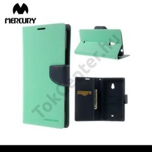 Nokia Lumia 1320 MERCURY Fancy Diary tok álló, bőr (FLIP, mágneses, oldalra nyíló, bankkártya tartó, asztali tartó funkció) CYAN