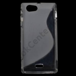 Sony Xperia J (ST26i) Telefonvédő gumi / szilikon (S-line) ÁTLÁTSZÓ