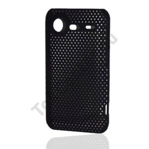 HTC Incredible S (S710e) Műanyag telefonvédő lyukacsos FEKETE
