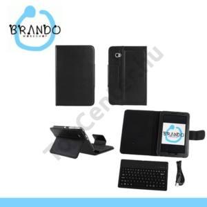 Samsung Galaxy Tab 7.0 Plus (P6200) Tok álló, bőr (FLIP, mágneses, bluetooth billentyűzet) FEKETE