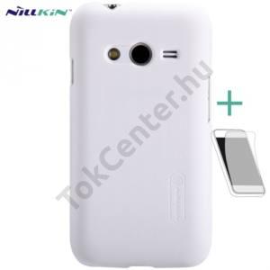 Samsung Galaxy Ace NXT (SM-G313H) NILLKIN SUPER FROSTED műanyag telefonvédő (gumírozott, érdes felület, képernyővédő fólia, tisztítókendő) FEHÉR