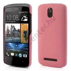 HTC Desire 500 Műanyag telefonvédő (gumírozott, érdes felület) RÓZSASZÍN