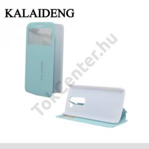 LG G2 mini (D620) KALAIDENG ICELAND II. tok álló, bőr (FLIP, oldalra nyíló, asztali tartó funkció, QuickWindow) KÉK