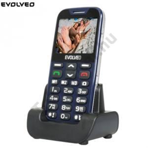 Evolveo EP-600 EasyPhone XD MOBILTELEFON készülék EVOLVEO EP-600 EasyPhone XD  (Blue) Nagy gomb és kijelző, vészhívó gomb!