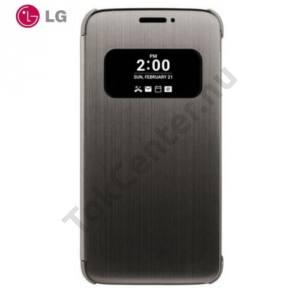 LG G5 (H850) Műanyag telefonvédő (FLIP, oldalra nyíló, hívószámkijelzés, és hívás felvételhez kivágás, QuickWindow) FEKETE
