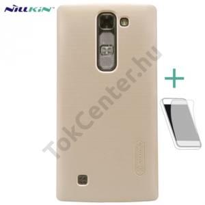 LG Magna (C90) NILLKIN SUPER FROSTED műanyag telefonvédő (gumírozott, érdes felület, képernyővédő fólia, tisztítókendő) ARANY