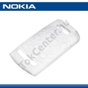 Nokia 303 Asha Telefonvédő gumi / szilikon FEHÉR