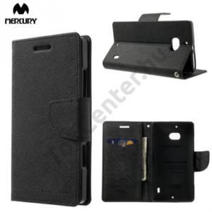 Nokia Lumia 929 MERCURY Goospery tok álló, bőr (FLIP, mágneses, oldalra nyíló, bankkártya tartó, asztali tartó funkció) FEKETE