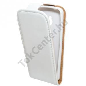 Nokia 230 Tok álló, bőr (FLIP, mágneses) FEHÉR