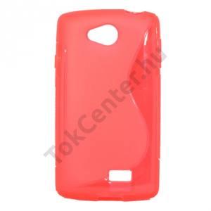 LG F60 (D390N) Telefonvédő gumi / szilikon (S-line) PIROS