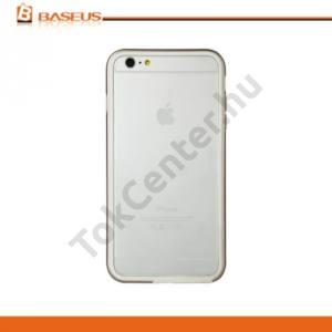 Apple iPhone 6 Plus 5.5`` BASEUS FANYI műanyag telefonvédő keret (gumi / szilikon belső, BUMPER, 1mm) ARANY